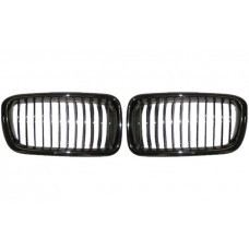 E38 Front Grille Black Chrome