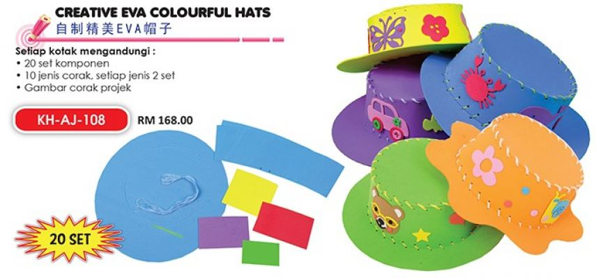 KH-AJ-108 Creative Eva Colourful Hats