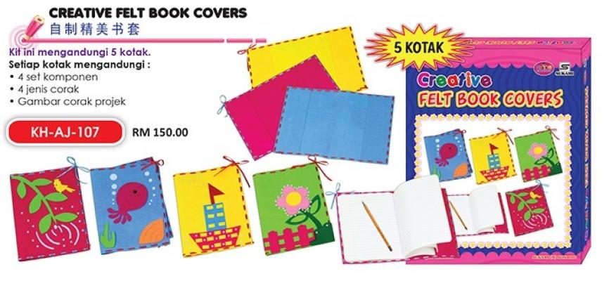 KH-AJ-107 Creative Felt Book Covers