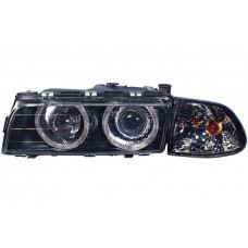 95 Head Lamp Crystal Projector W/Rim Glass lens + Motor