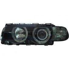 98 Head Lamp Crystal Projector W/Rim + Motor