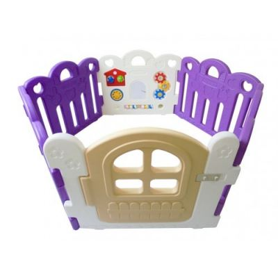 HNP-737PA Baby Play Yard 6 Panel Petit With Activity (Purple + White)