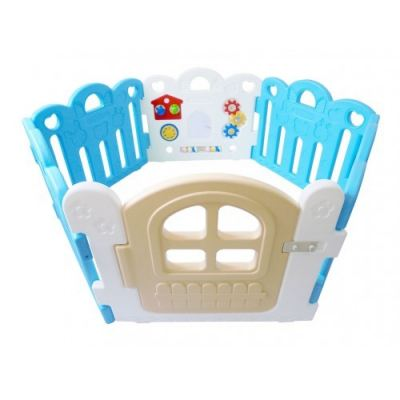HNP-737BA Baby Play Yard Petit 6 Panels With Activity Blue