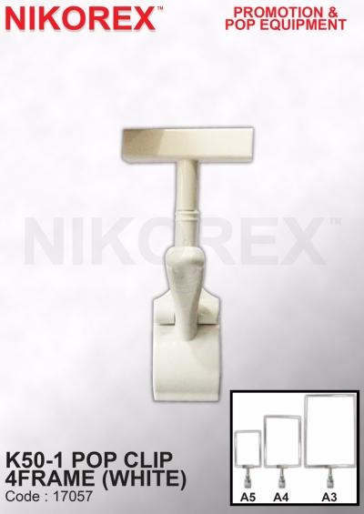 17057-K50-1 POP CLIP 4FRAME (WHITE)