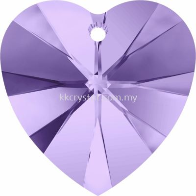 Swarovski 6228 Xilion Heart Pendant, 14.4x14mm, Tanzanite (539), 2pcs/pack