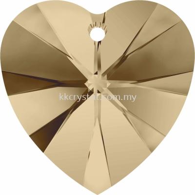 SW 6228 Heart Pendant, 18x17.5mm, Crystal Golden Shadow (001 GSHA), 1pcs/pack
