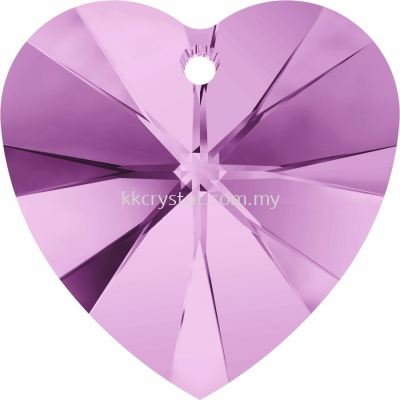 Swarovski 6228 Xilion Heart Pendant, 18x17.5mm, Light Amethyst (212), 1pcs/pack