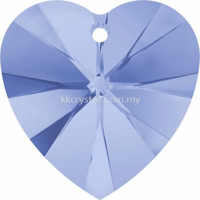 Swarovski 6228 Xilion Heart Pendant, 18x17.5mm, Light Sapphire (211), 1pcs/pack
