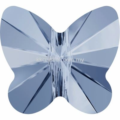 Swarovski 5754 Butterfly Bead, 10mm, Denim Blue (266), 2pcs/pack