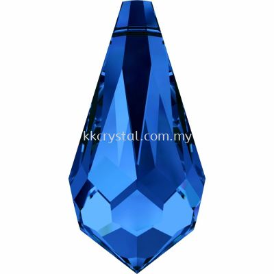 Swarovski 6000 Drop Pendants, 11x5.5mm, Sapphire (206), 4pcs/pack