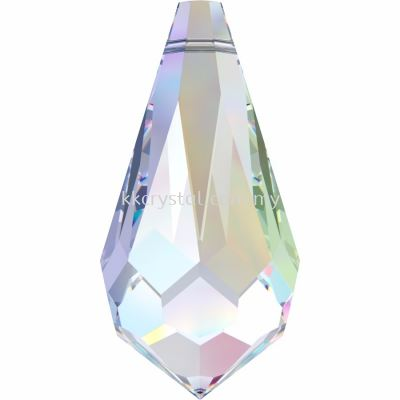 Swarovski 6000 Drop Pendants, 11x5.5mm, Crystal AB (001 AB), 4pcs/pack