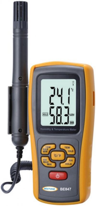 Digital Thermometer & Humidity Meter BE847