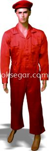 Dyed TC Dril Orange Coverall Factory Uniform