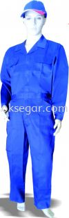 Dyed TC Drill Blue Coverall Factory Uniform