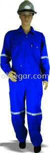 Coverall Navy Blue & Dark Green Factory Uniform