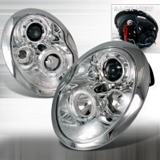 Cooper S R53 Mk I-Head Lamp Crystal Projector W/Rim ( Chrome )