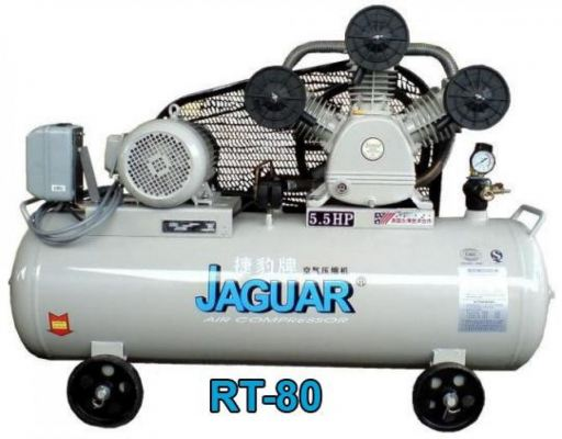 Jaguar RT80 5.5hp 160L 8bar Belt Driven Air Compressor