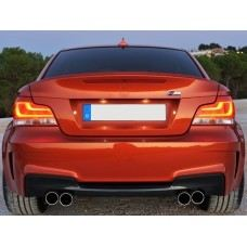 E82 1M Style Rear Bumper PP W/Quad Outlet