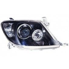 Hilux 04 Head Lamp Crystal Black Projector W/CCFL ..