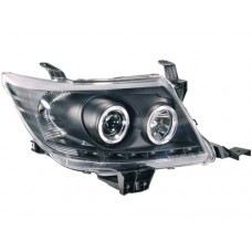 Hilux 11 Head Lamp Projector Black W/CCFL +DRL