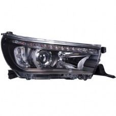 Hilux Head Lamp Crystal Projector Black W/Sequential Signal LED