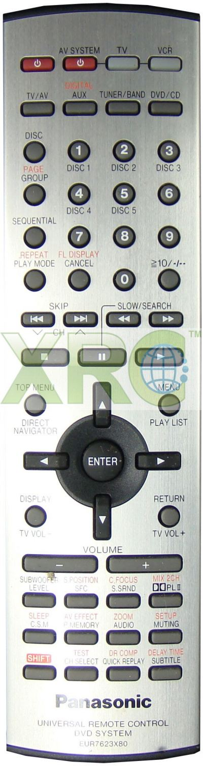 EUR7623X80 PANASONIC HOME THEATER REMOTE CONTROL