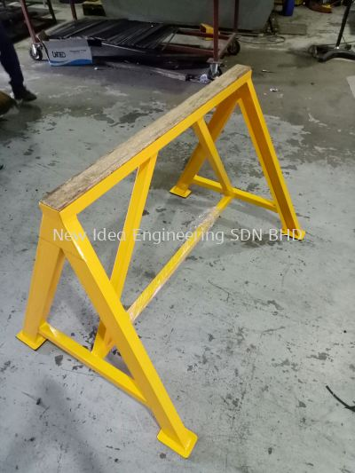 Heavy duty metal rack support
