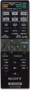 RM-ADU078 SONY HOME THEATER REMOTE CONTROL SONY HOME THEATER REMOTE CONTROL