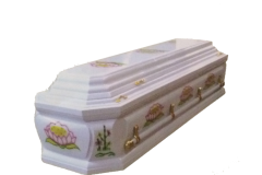 CASKET Funeral  ~ White Business