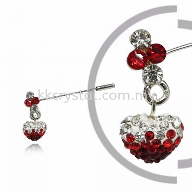 Pin Brooch 7046#_A, Red Light Siam, 2pcs/pack