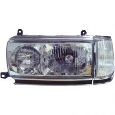 FJ80-90 Head Lamp Crystal Chrome W/Corner Lamp