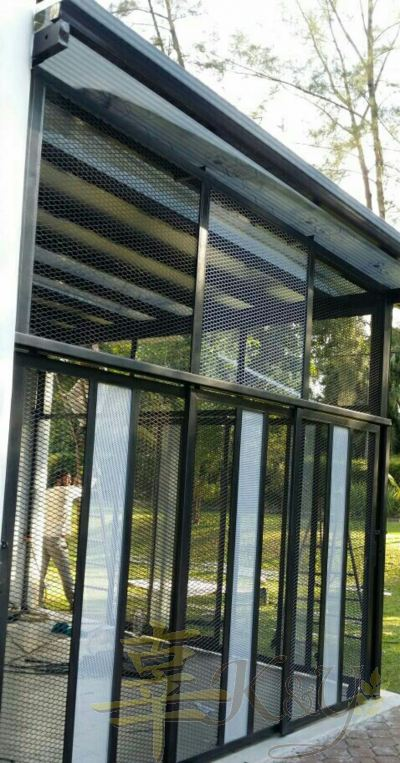 Mild Steel Diamond Net 1inchi Sliding Door