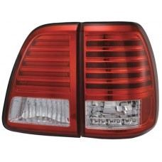 FJ100-98 Rear Lamp Crystal LED Red/Clear