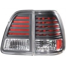 FJ100-98 Rear Lamp Crystal LED Black
