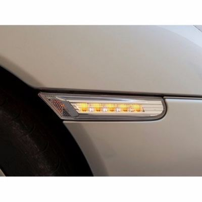 Carrera Side Lamp Crystal LED Amber