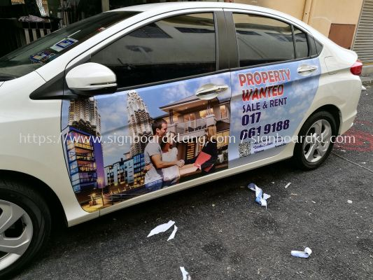 Cvehicle Car sticker advertising printing