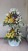 FW416 RM500 Funeral Flowers Stand Condolence Flower