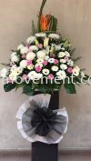 FW413 RM300 Funeral Flowers Stand Condolence Flower