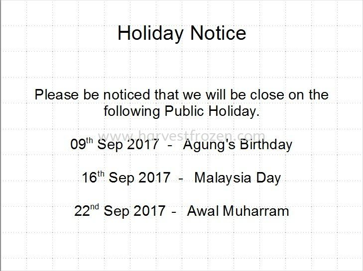 Holiday Notice