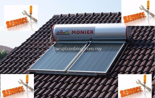 Repair Monier Solar Water Heater Setia Alam- Service & Maintenance Supplier in Malaysia