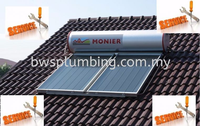 Repair Monier Solar Water Heater Cheng- Service & Maintenance Supplier in Malaysia Monier Solar Water Heater Repair & Service BWS Customer Service Centre