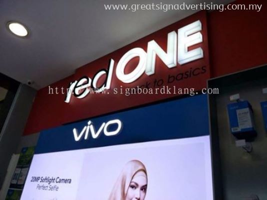 Red One Network Sdn Bhd Acrylic 3D Led signage - the Mines Shopping Mall