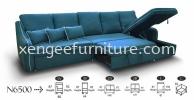 N6500 Nabucco Design L Shape Sofa