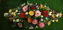 Daisy Basket Arrangment (BA-168)  Long And Low Flower Arrangement Basket Arrangement