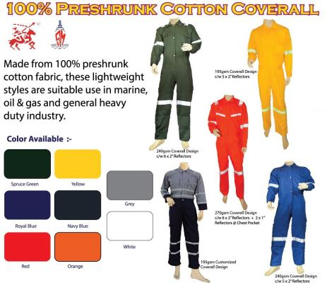Arrowman Coverall 100% Preshrunk Cotton 4.5oz, 6oz, 7oz