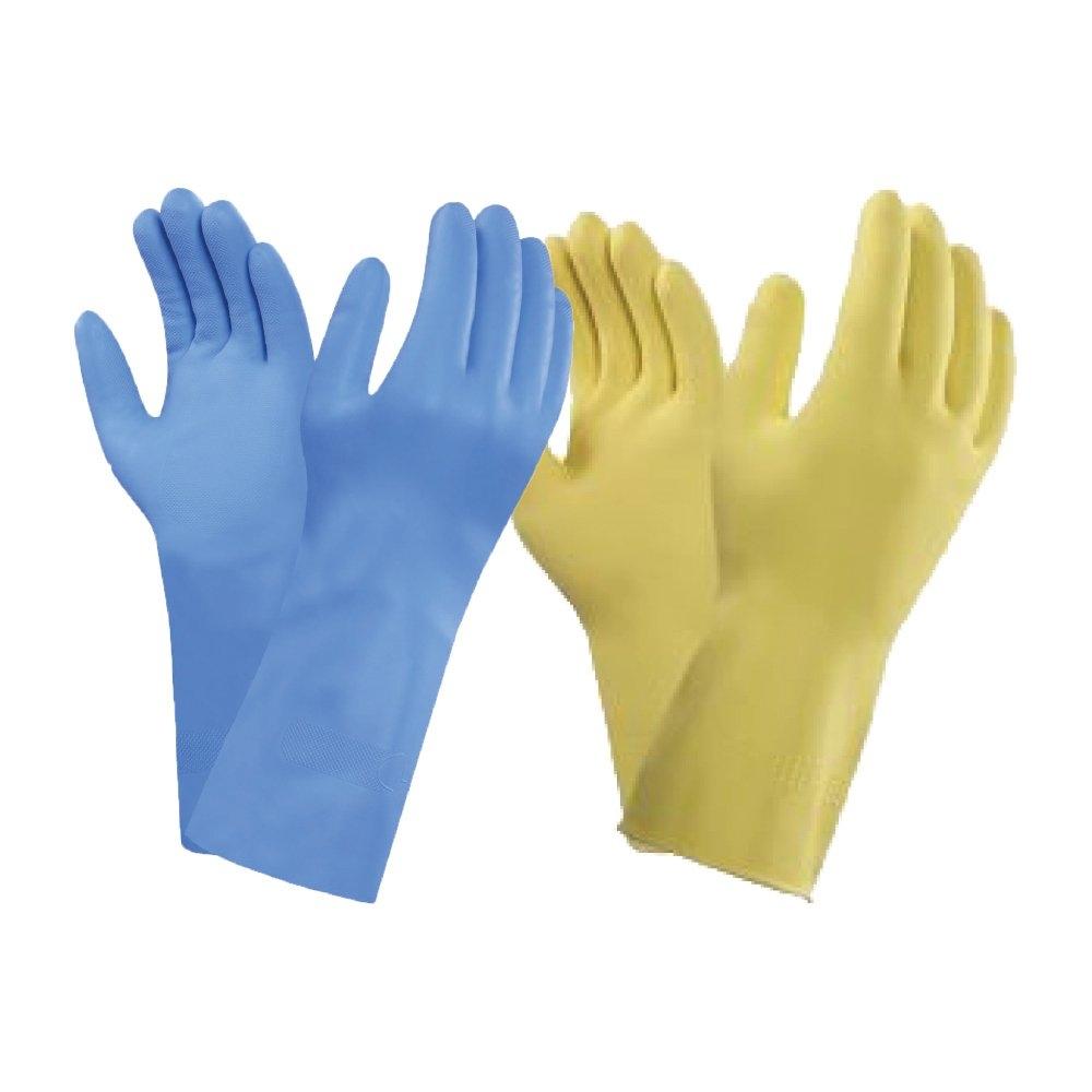 Household Latex Flock lined Rubber Gloves (B0801) Household Gloves, Manufacturer, Supplier, Supply  ~ Bergamot Sdn Bhd