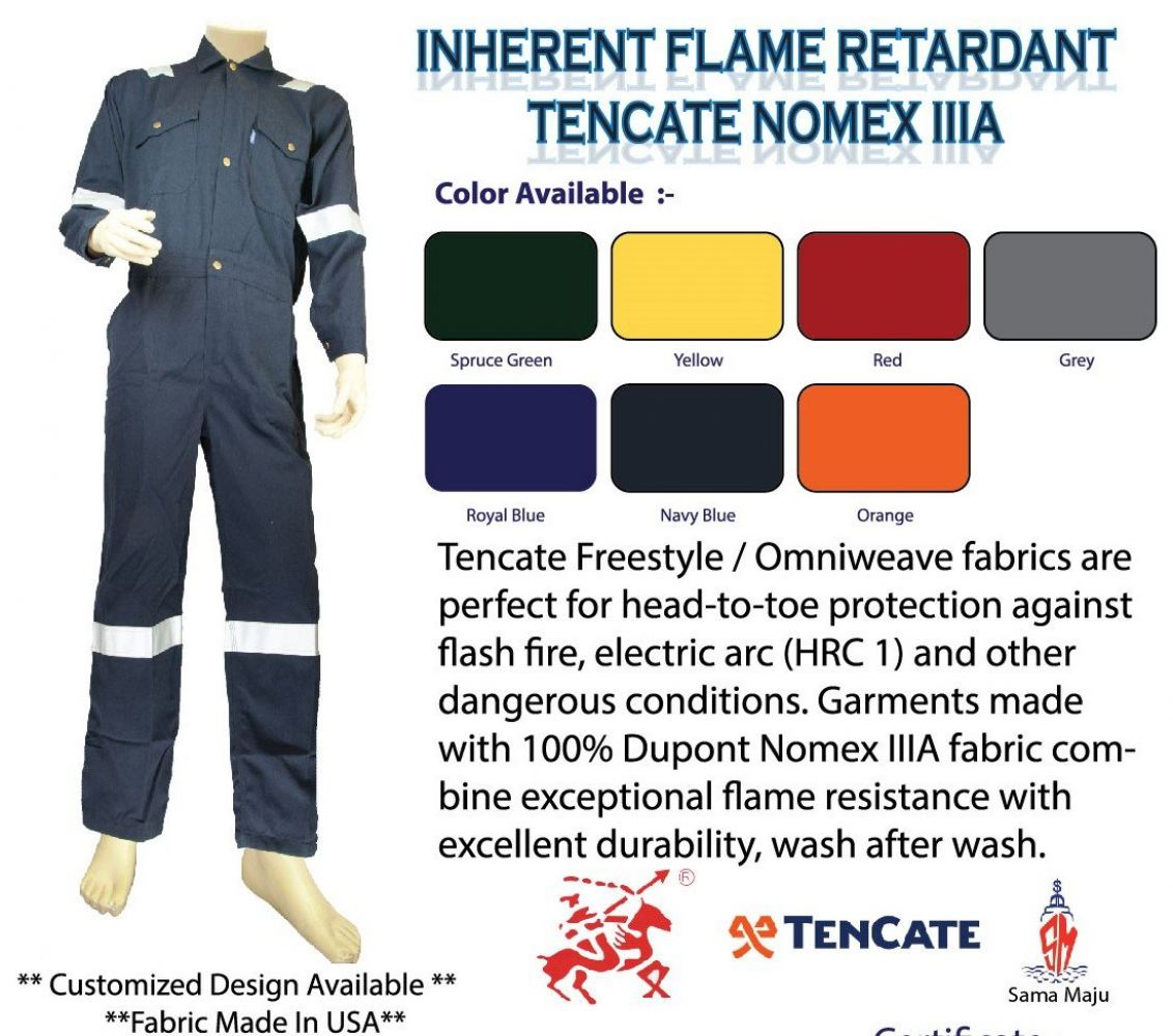 28f11bce73dd Tencate Omniweave Nomex IIIA INHERENT FLAME RESISTANCE COVERALL 150GSM  Inherent Fire Resistant Protective Clothing Kuala Lumpur