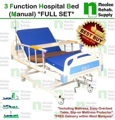 NL303S [Full Set] Hospital Bed 3 Function (Manual)