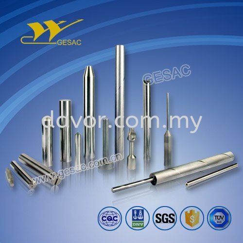 Tungsten Carbide Rods (Ground and Unground) with Coolant Hole, Chamfer, Endmill and Preform