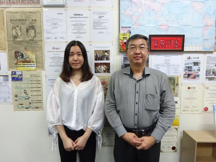 Ms. Aimee (Refworld Refrigeration Industry Co., LTD) Principle Visit On 20-09-2017
